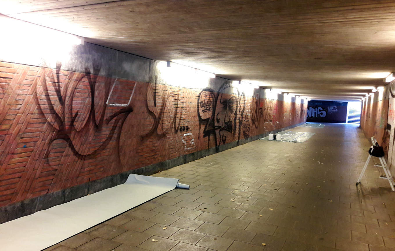 Tunnel vor der Arbeit