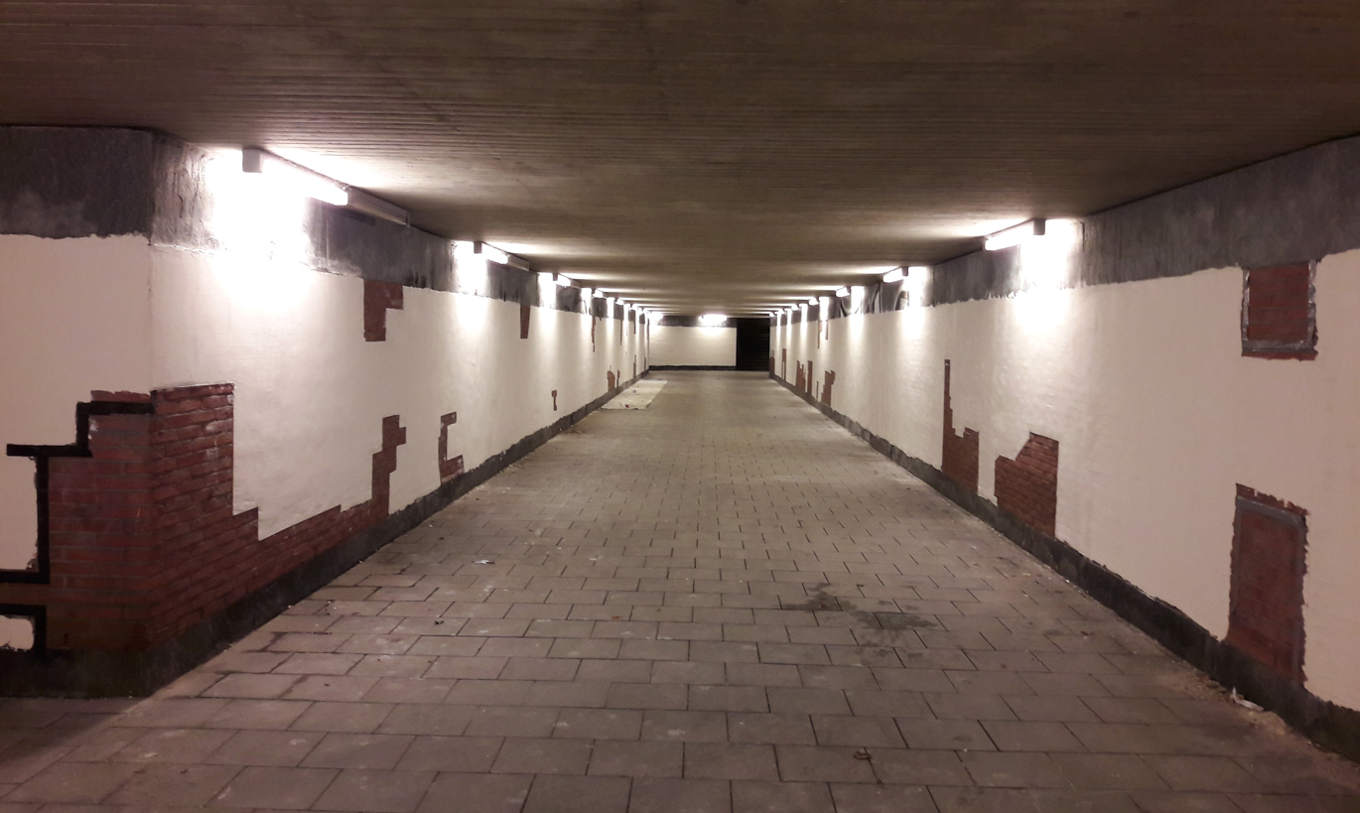 Tunnel gespachtelt